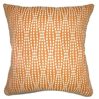 The Pillow Collection Orit Geometric Pillow, Chambray