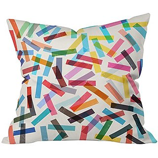 DENY Designs Garima Dhawan Fiesta 2 Throw Pillow, 18 x 18