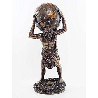 Primordial Titan Atlas Bearing Weight Of The Globe Figurine Gaia Ouranus Olympian War Sculpture