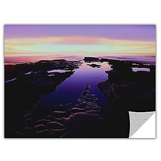 ArtWall Dean Uhlinger Low Tide Afterglow Removable Graphic Wall Art, 18 by 24-Inch