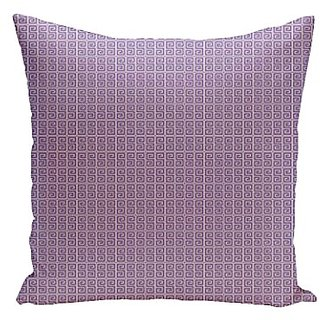 E By Design PG-N77-Heather_White-16 Geometric Decorative Pillow, 16-Inch, Heather White