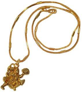 Men Style Loard Hanuman  Gold  Alloy Bajiranbali Pendent  For Men And Women