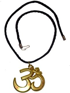 Men Style Eleghant Large 3D Devotional  OM AUM  Gold  Alloy 00 Pendent  For Men And Women