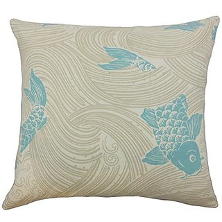 The Pillow Collection Ailies Graphic Lagoon Pillow, 20