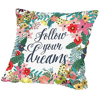 American Flat Follow Your Dreams Pillow by Mia Charro, 18