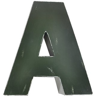 Found Object Sansarif 12-Inch Solid Letter Wall Hanging, Capital A, Green