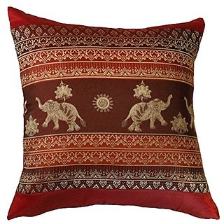 Cushion Red Elephant Throw Pillow Cover Case Handmade Decorative 16x16 inch (40x40 cm)