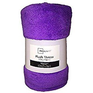 Mainstays Purple Plush Throw