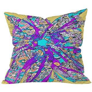 DENY Designs Ingrid Padilla Purple Petals Throw Pillow, 18 x 18