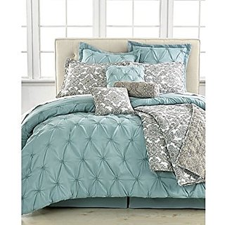 Jasmine Blue 10 Piece Full Comforter Set Bedding