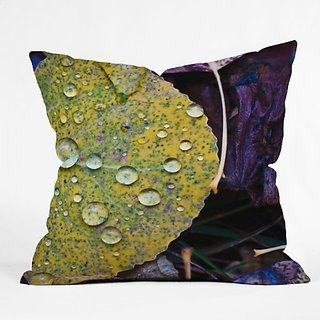 DENY Designs Bird Wanna Whistle Fallen Leaf Throw Pillow, 26 x 26