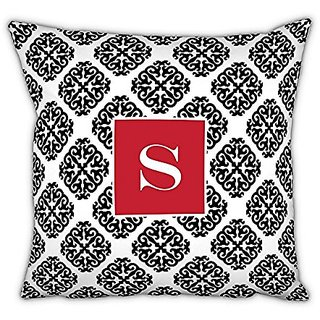 Chatsworth Marakesh Square pillow with Single Initial, N, Multi