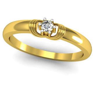 JewelHub SI-IJ Diamond  Ring 0.07 ct /2.50 gm 18k Yellow Gold