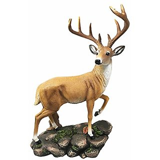 Large Decorative 10 Point Emperor Deer Buck Figurine Great Gift For Hunters Rustic Cabin Lodge Statue