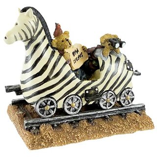 Boyds Bears Resin ZEB THE ZEBRA WITH ZOEY & ZAC 4015992 Bearstone 1E Train New
