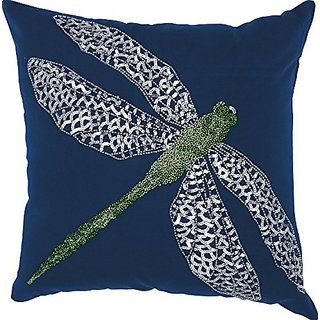 Mina Victory by Nourison E0933 Navy Decorative Pillow, 18