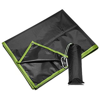 DHCare Waterproof Lightweight Outdoor Beach / Picnic / Camping Blanket with Draw String Carrying Tote,4 Stakes-6.5 x 5 F