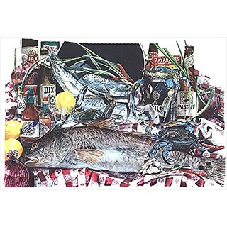 Carolines Treasures 1001PILLOWCASE Fish And Beers From New Orleans Moisture Wicking Fabric Standard Pillowcase, Large, M