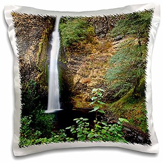 3dRose pc_190517_1 Use, Oregon, Columbia River Gorge, Horsetail Falls, 176 Feet Pillow Case, 16 x 16