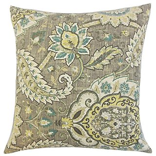 The Pillow Collection Harum Floral Platinum Pillow, 20
