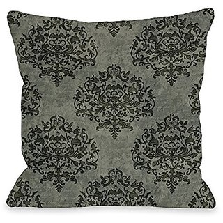 Bentin Home Decor Haunted Filigree Throw Pillow w/Zipper by Kate Ward Thacker, 16