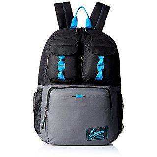 Trailmaker Big Boys Triple Pocket Backpack, Black, One Size