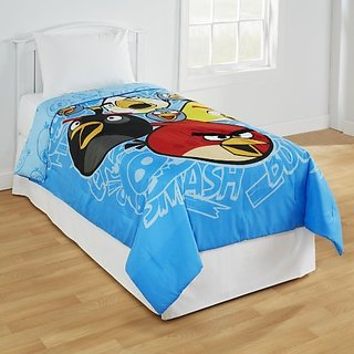 Angry Birds Twin/Full Comforter w/Plush Accents