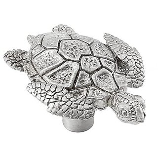 Vicenza Designs K1060 Pollino Turtle Knob, Large, Satin Nickel