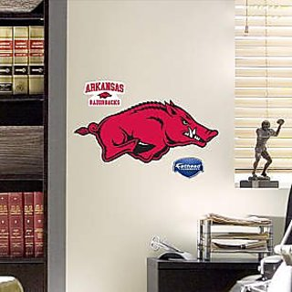 NCAA Arkansas Razorbacks Teammate Logo Decal, Red, 16