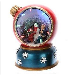 Musical Christmas Scene w/Moving Figurines & LED Lights, Plays Jingle Bells
