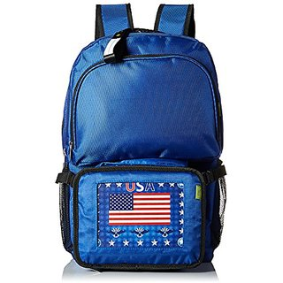 Pak-Easy US Flag Animated Lit Backpack Combo, Blue, One Size