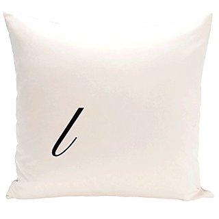 E By Design PMSR12BK4-16 Monogram Print Pillow, 16