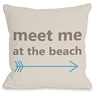 Bentin Home Decor Meet Me at the Beach Throw Pillow w/Zipper by OBC, 14