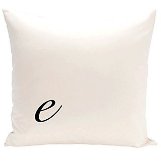 E By Design PMSR5BK4-16 Monogram Print Pillow, 16