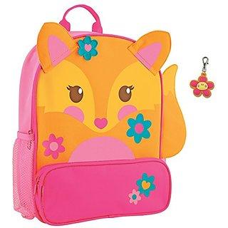 Stephen Joseph Sidekick Fox Backpack and Flower Zipper Pull - Backpacks for Girls