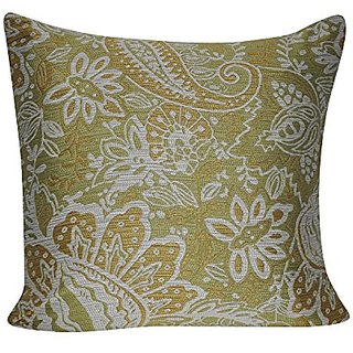Loom and Mill P0642-2222P Paisley Decorative Pillow, Olive, 22