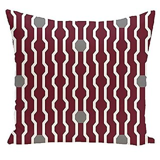 E By Design PHGN277RE4GY2-26 Nuts & Bolts Decorative Holiday Geometric Print Pillow, 26