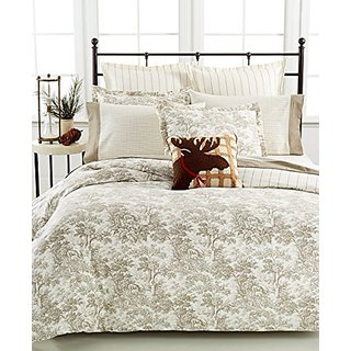 Martha Stewart Collection Arcadia Toile Full/Queen Flannel Duvet Cover