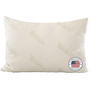 Bamboo Pillow - Most Comfortable Alternative Down Hypoallergenic Pillow with Stay Cool Bamboo Cover - #1 Top Rated Best