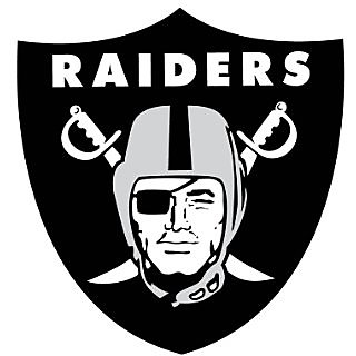 Oakland Raiders NFL logo wall decals stickers - 3 stickers (12