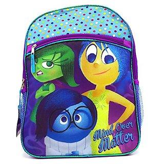 Disney Pixar Big Head Inside Out Blue Large Backpack with 1pc Eraser