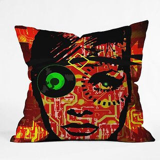 DENY Designs Amy Smith Fire Throw Pillow, 16-Inch by 16-Inch