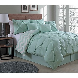 Avondale Manor Ella 7 Piece Comforter Set, Queen, Mint