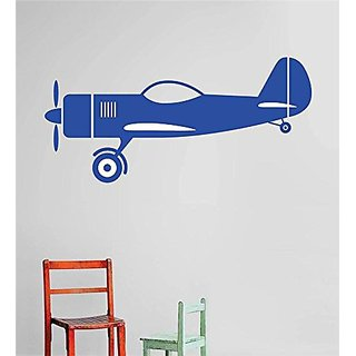 Design with Vinyl Cryst 574 1298 Blue Airplane Aircraft Boys Kids Children Vinyl Wall Decal Art Home Decor Bedroom Livin