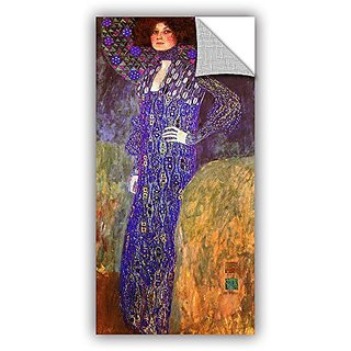 ArtWall Gustav Klimts Emilie Floege Appeelz Removable Graphic Wall Art, 12 by 24