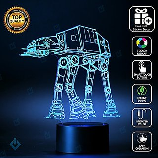 Star Wars AT AT walker Lighting Decor Gadget Lamp + Sticker Decor for Perfect Set, Awesome Gift (MT025)