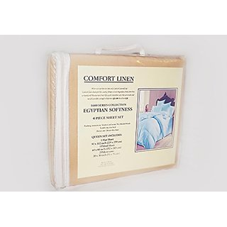 Comfort Linen 1600 Series Collection Egyptian Softness (Beige, King)