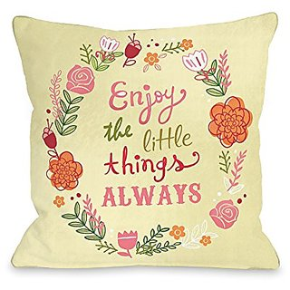 Bentin Home Decor Positive Thinking Throw Pillow by Julissa Mora, 18