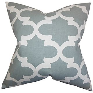 The Pillow Collection Titian Geometric Pillow, Gray
