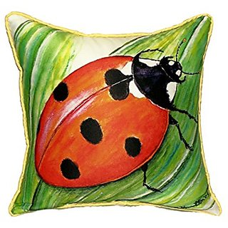 Betsy Drake Ladybug Pillow, 22